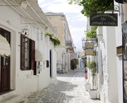 Traditional Cycladic settlement of Parkia, Paros Greece
