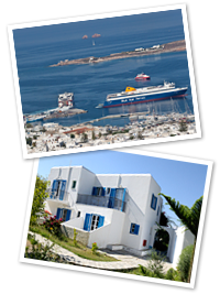 Parkia port & Bizas Rooms in Paros Greece